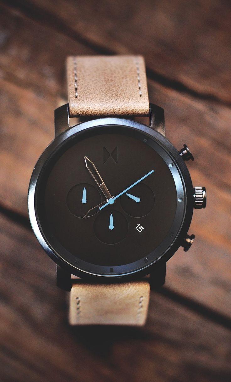 #petitsplaisirs #ledeclicanticlope / Montre #MVMT modèle Chrono Gun Metal/Sandstone Leather - $114.75 via mvmtwatches.com