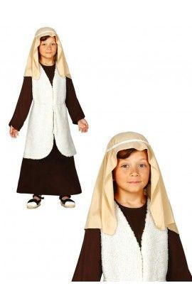 disfraz de pastor hebreo marrn para nio