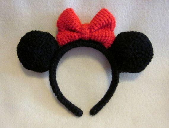 Crochet Minnie Mouse Ear Headband