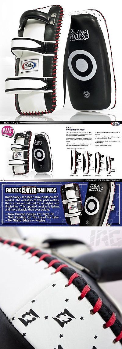 Strike Pads and Mitts 179789: Fairtex Muay Thai Kickboxing Curved Standard Kick Thai Pads - Kplc2 - Leather -> BUY IT NOW ONLY: $129.95 on eBay!