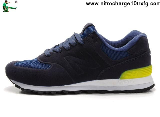 Low Price New Balance NB MS574NY Sonic deep Blue Yellow For Men shoes Fashion Shoes Store