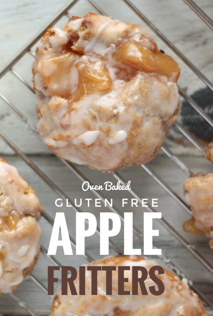 Gluten Free Baked Apple Fritters