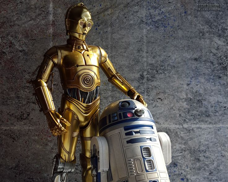 A DROID & HIS COUNTERPART - C3PO & R2D2 by Sideshow Collectibles in sixth-scale