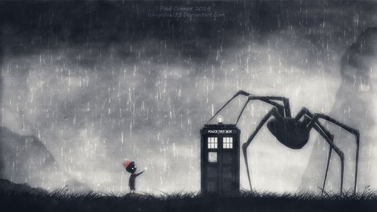 Video Game Crossover  Limbo (Video Game) Doctor Who Wallpaper