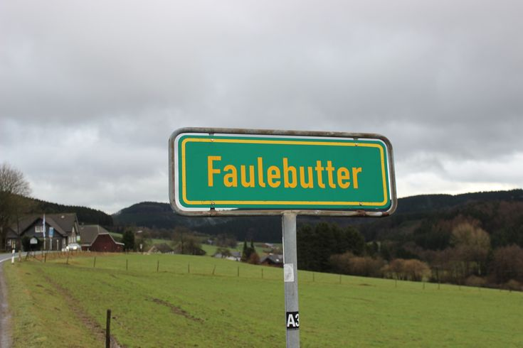 Lustige Ortsnamen im Sauerland.