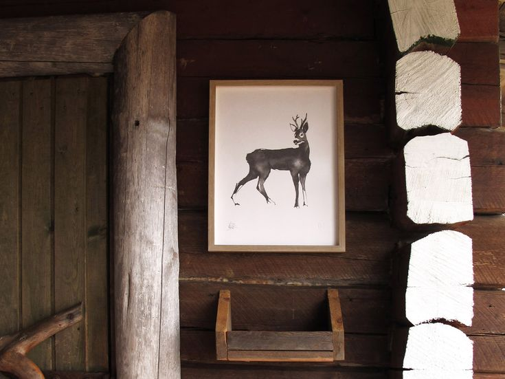 Roe Deer Fine Art Print on Paper Teemu Järvi Illustrations http://www.teemujarvi.com/en/shop/paper-prints/59-deer.html