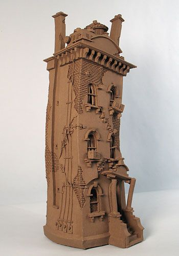 Stucco Row House - Buildings - Gallery - John Brickels, Architectural Sculpture and Claymobiles, Essex Jct, Vermont