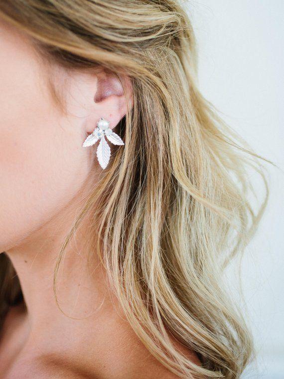 New Boho Metal Flowers Ear Stud Dangle Rhinestone Earrings Women Jewelry Gift UK