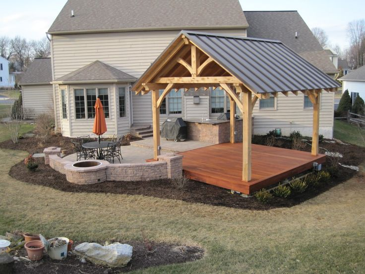 backyard living - Patio Pavilion Ideas