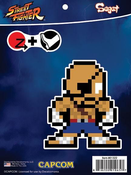 Street Fighter 8-Bit Sagat Sticker Decal