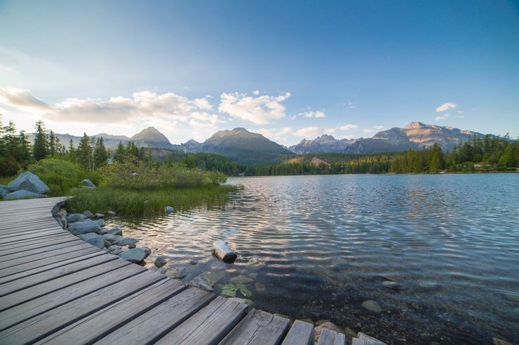 Free Image: Evening Lake Side in High Tatras Mountains | Download more on picjumbo.com!