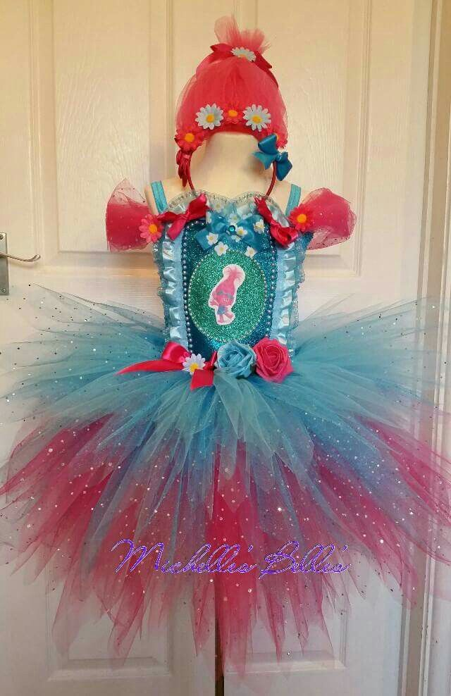 Poppy troll tutu dress by Michelle's Belle's tutu