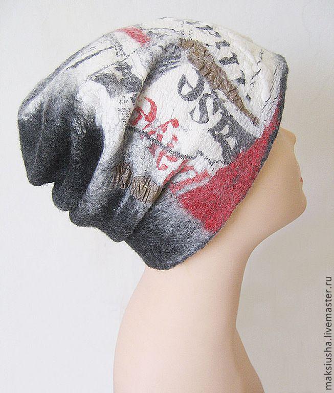 Купить Шапка валяная Последние новости - валяная шапка, шапка женская, шапка из шерсти