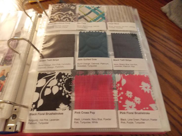 Cut Fabric Swatches To Fit Into Baseball Card Sleeves And