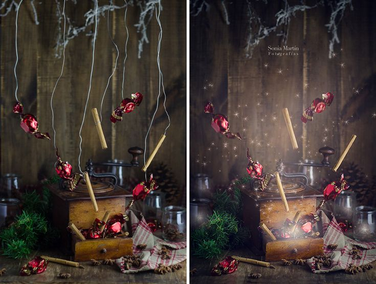 Antes y después Explosión navideña. Videotutorial || www.aquesabenlasnubes.com