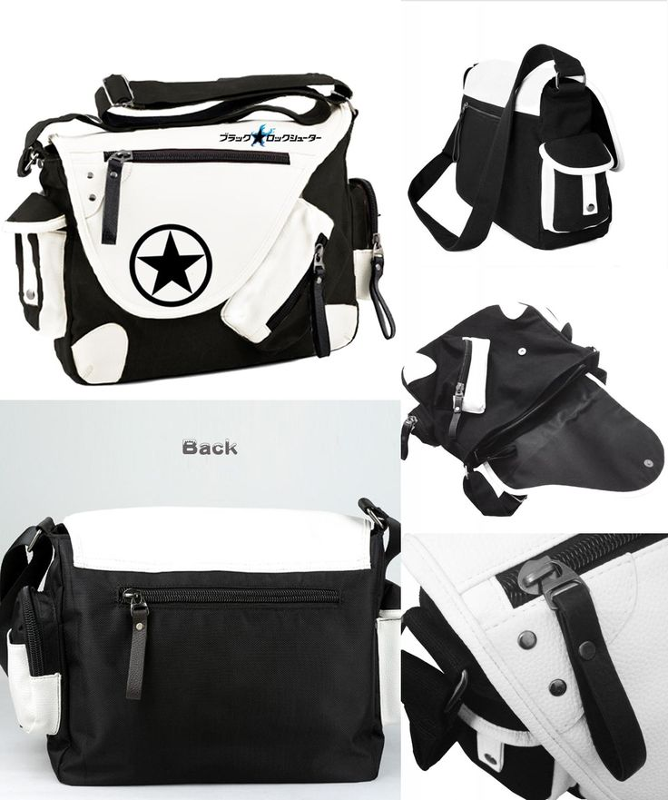 [Visit to Buy] Cartoon Anime Black Rock Shooter BRS Cosplay Messenger Bags Canvas Shoulder School Travel Book Bags #Advertisement