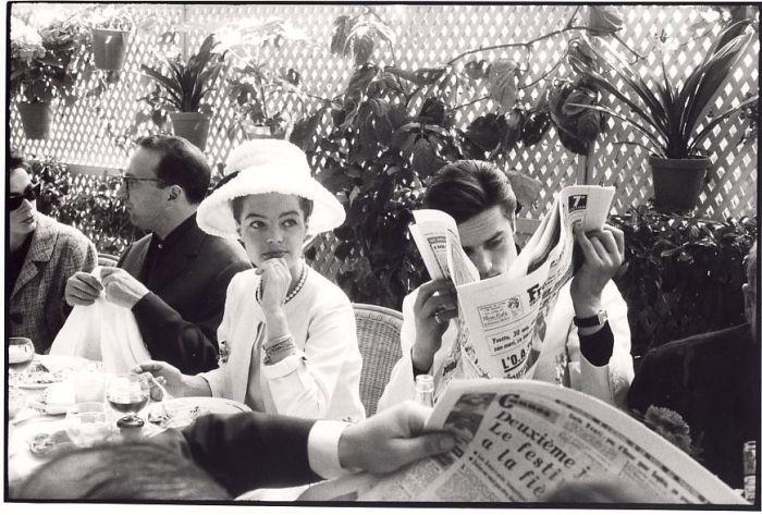 Cannes, 1963 Romy Schneider et Alain Delon