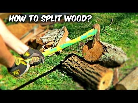 VIDEO: If You Stand Your Wood Up To Chop It, You're Doing It Wrong. Here's The Right Way To Do It: – AWM