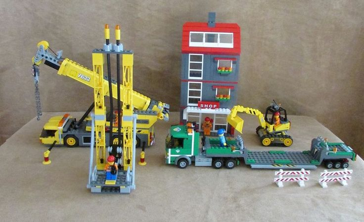 7633 Lego City Construction Site Complete minifig crane building town center #LEGO