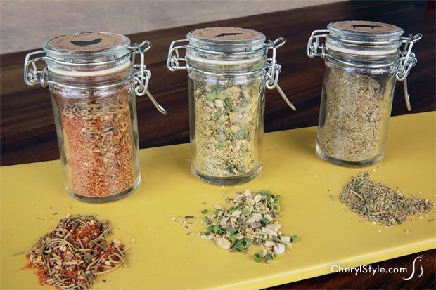 3 DIY salt-free seasoning mixes and printable labels