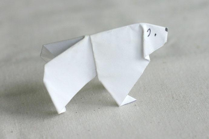 Polar Bear Origami   Origami   Pinterest - photo#17