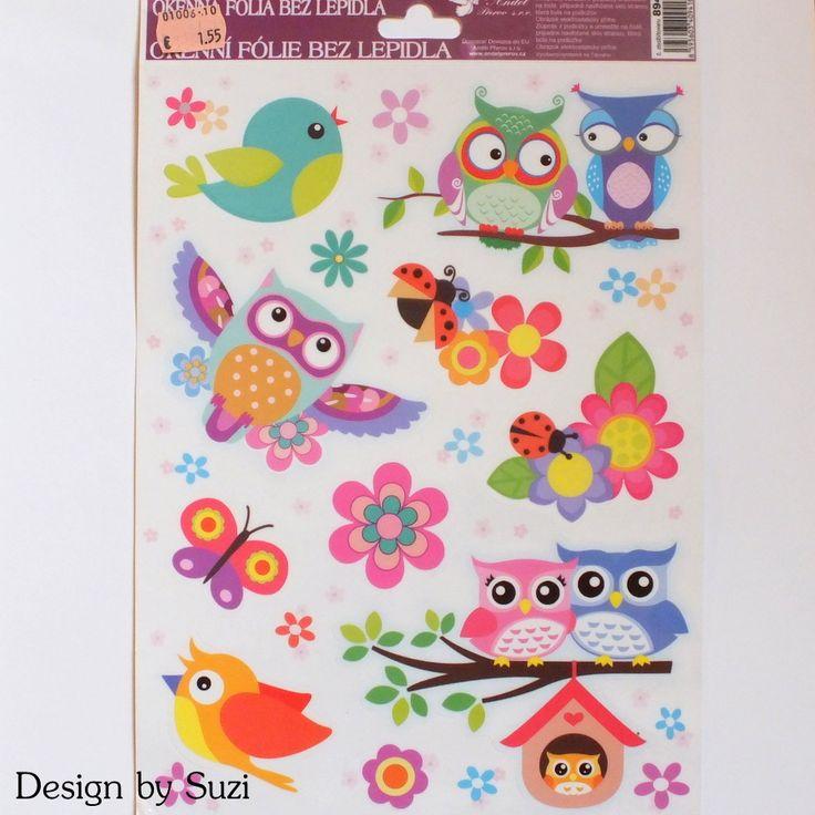 Owl window stickers