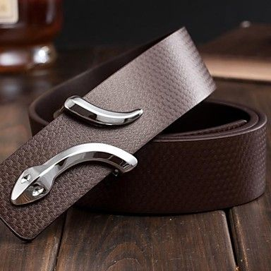 Mens Stylish Snake Buckle Leather Belt (3 Colours). Only at www.pandadeals.co.uk