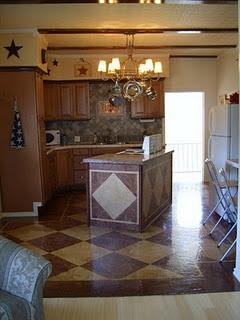 Hard to believe the flooring is brown paper.