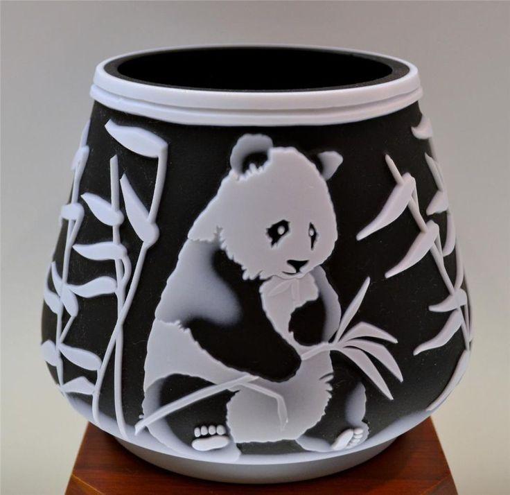 Fenton KELSEY MURPHY Sand Carved Panda Bear 34142Z LE #d 123/350 *FREEusaSHIP