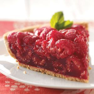 Fresh Raspberry Pie Recipe from Taste of Home -- shared by Patricia Staudt of Marble Rock, Iowa