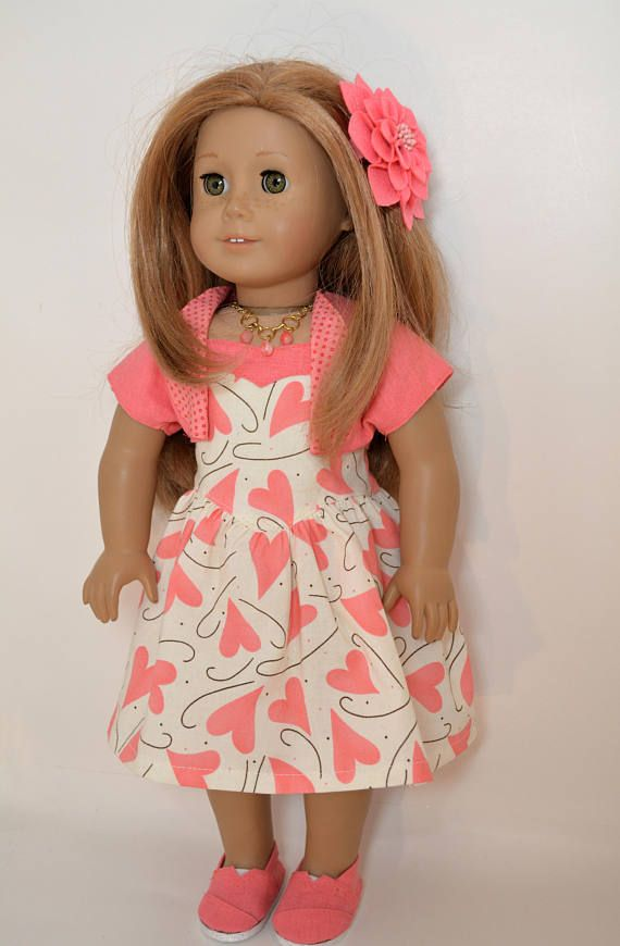 18 Inch Doll Clothing fits American Girl Doll 5 piece outfit