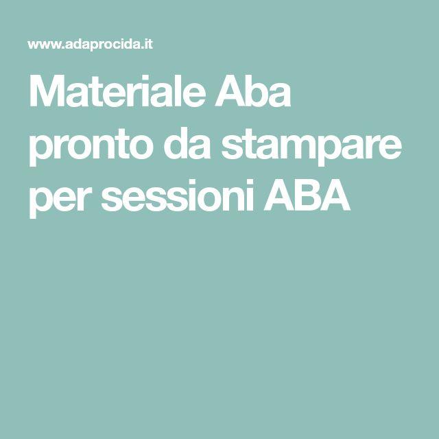 Materiale Aba pronto da stampare per sessioni ABA