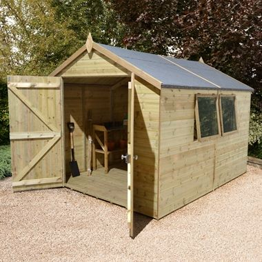 12x8 Ultimate Heavy Duty Workshop - Double Door | Buy Sheds Direct