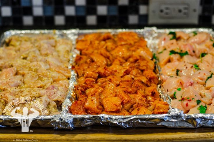 Variety Of Chicken To Use In A Week Long Meal Prep Session