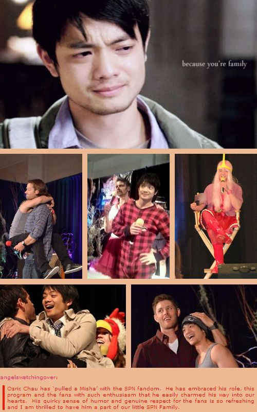"""Because you're family."" 