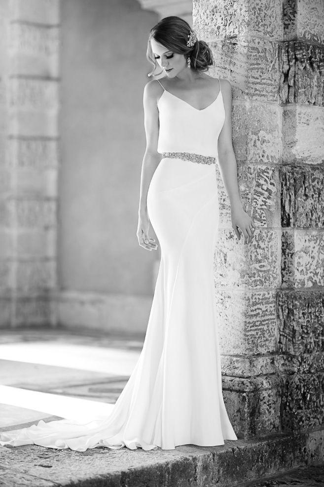Spaghetti strap wedding dress from the Martina Liana 2016 Bridalwear Collection | Love My Dress® UK Wedding Blog