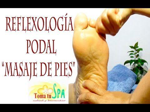 "Masaje de pies ""Reflexología Podal"" puntos para bajar de peso, sencilla técnica - YouTube"