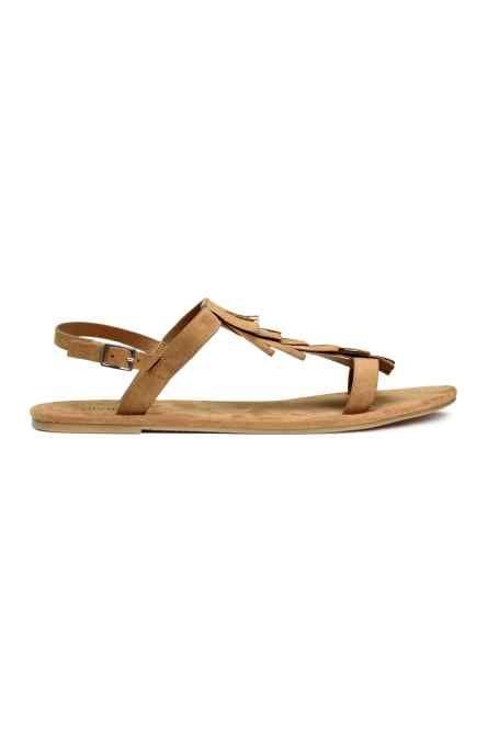 Sandalen met franje