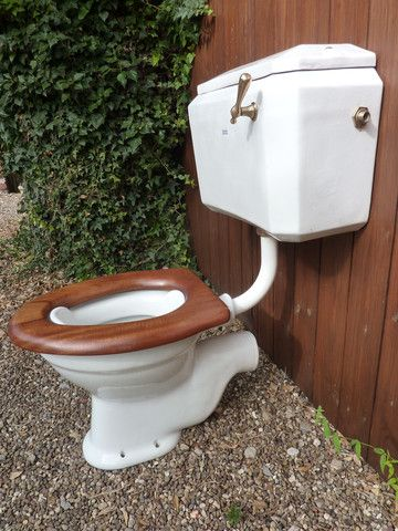 Restored Art Deco Adamsez Toilet Wooden Seat Amp Semi High