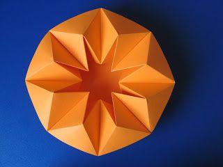 Origami: Vaso stella, vista dall'alto - Star Vase, top view