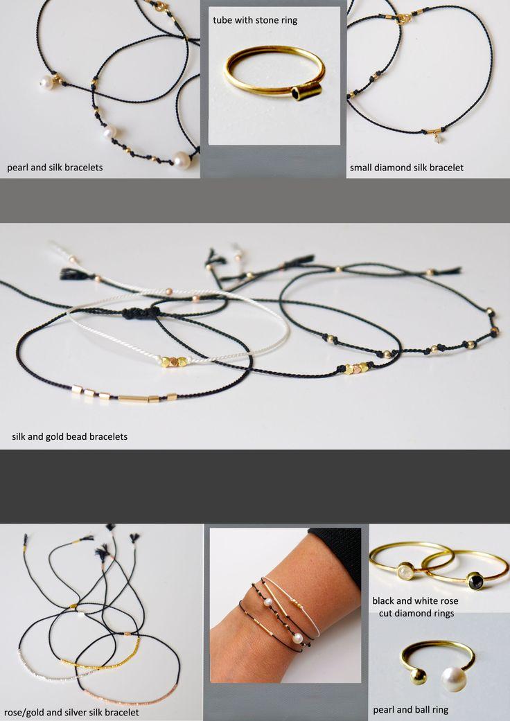 fine simple silke armbånd/ simple modern silk bracelets