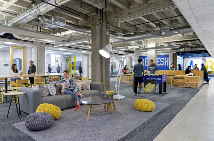 Breakout space / lounge from Stafford House Offices – San Francisco