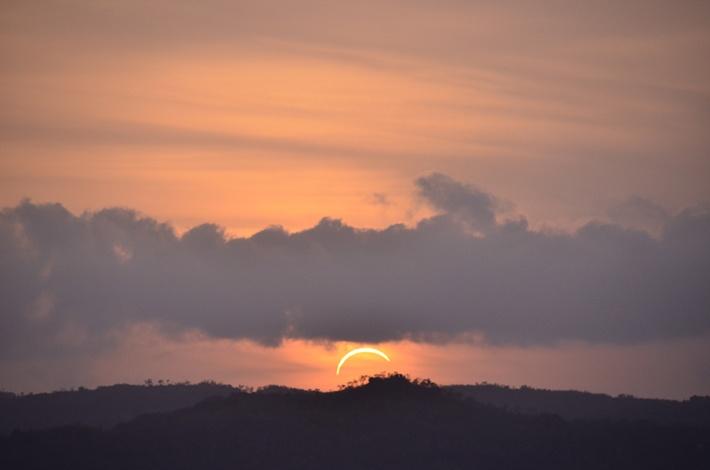Eclipse image taken at Ubirr rock in Kakadu. Photo taken by Healthcare Australia PCA David Partington.
