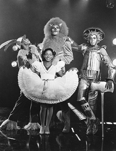 Hinton Battle, Ted Ross, Tiger Haynes and Stephanie Mills in The Wiz http://s3.amazonaws.com/broadwaybox/mediaspot/wiz.jpg