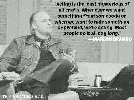 Brando waxing philosophical genius as usual