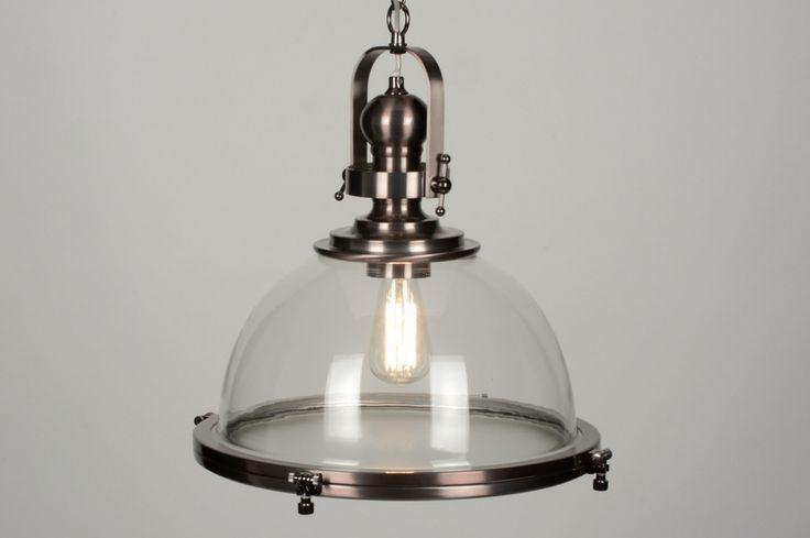 Hanglamp 88158: Retro, Glas, Helder Glas