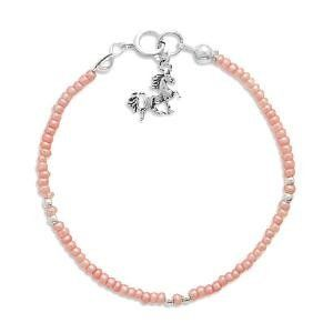Unicorn Charm Pink Seed Bead Child's Sterling Silver Bracelet AzureBella Jewelry. $18.09. .925 Sterling Silver. Small Children's Size