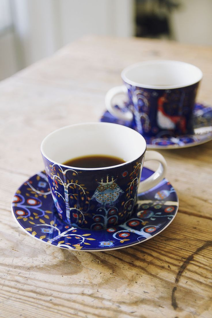 A stylish cup of coffee...Iittala Taika coffee mugs