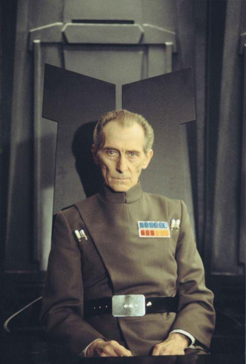 Peter Cushing as Grand Moff Tarkin - the most badass Imperial officer.