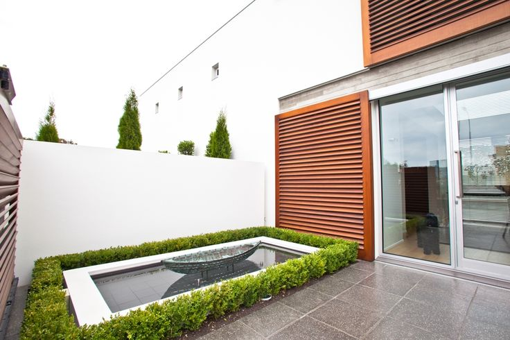 A simple water feature is an attractive addition to an outdoor space